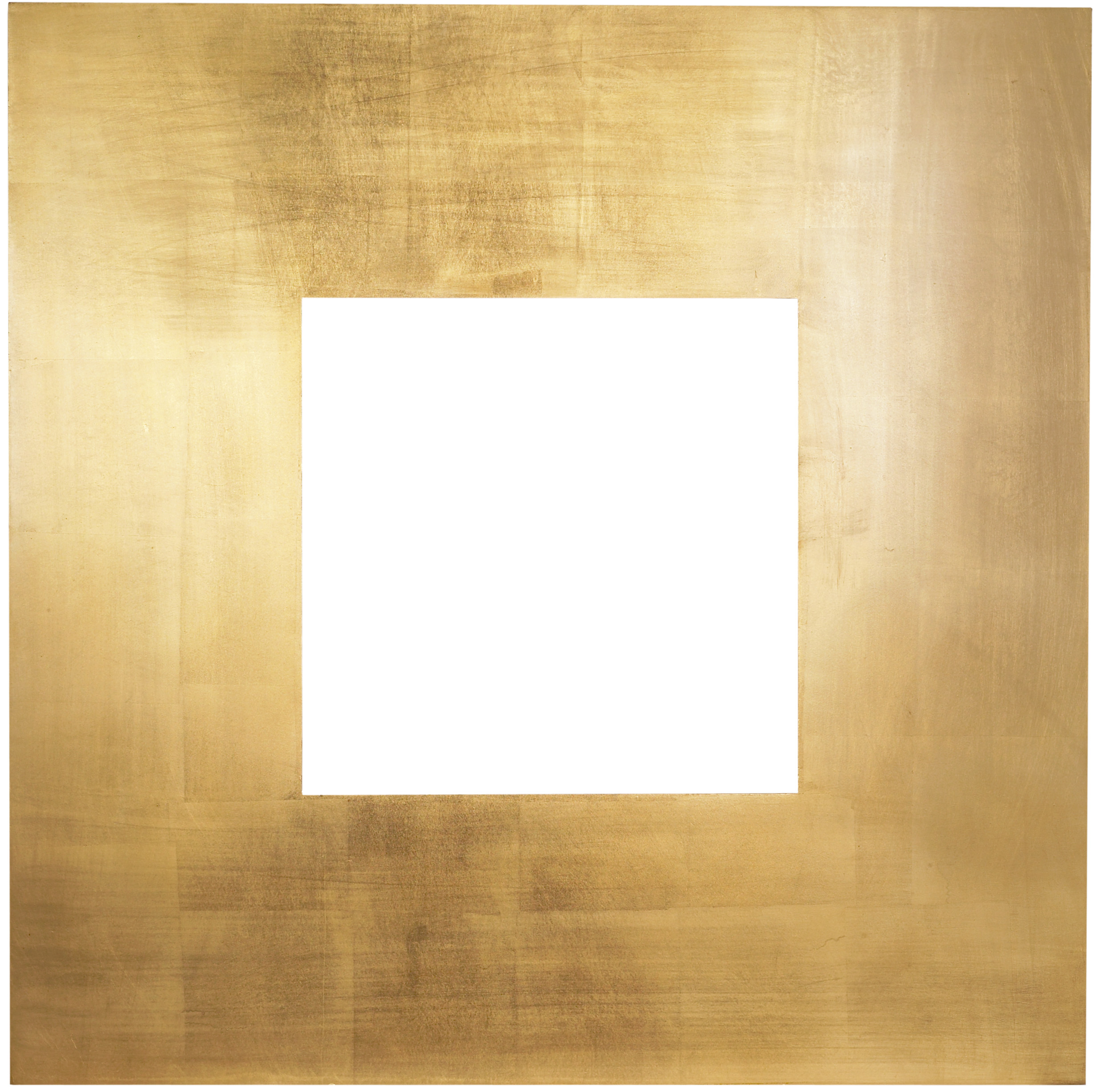contemporary square frame gold