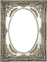 Ornate oval silver frame
