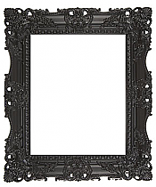 (95mm) Black Carved Frame with Mirror