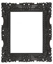 (95mm) Black Carved Frame