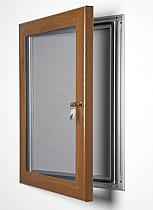 Key Lock poster frame golden oak