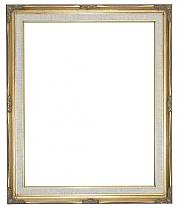 """1"""" Gold Swept Frame with linen liner"""
