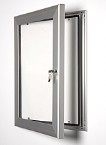 Key Lock Poster Frame silver adonised