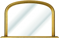 Gold Overmantle Mirror £135.00