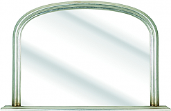 Silv Overmantle Mirror £135.00
