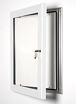 Key Lock poster frame white